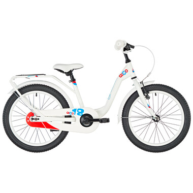 "Vélo Enfant S'COOL NIXE Acier 1V 18"" Blanc"
